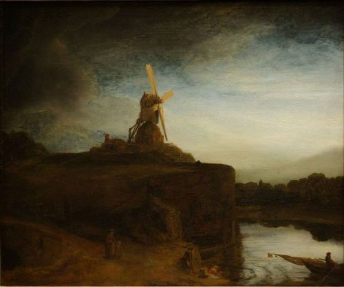 The Mill by Rembrandt, oil on canvas, 1645-1648.