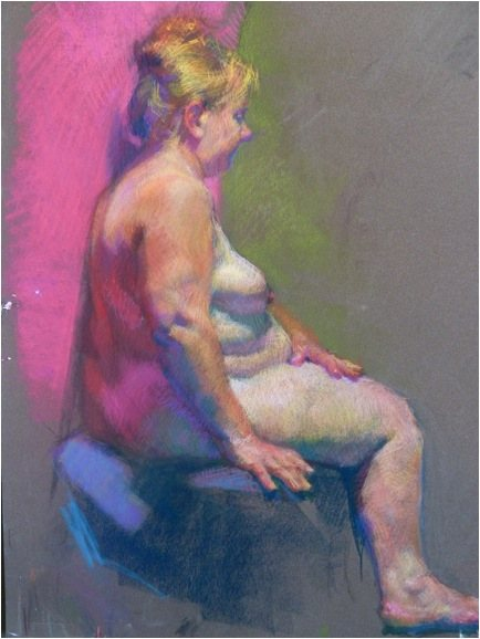 Pastel drawing by Lea Colie Wight.