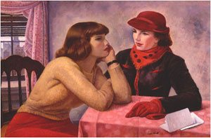 The Conversation by Leon Kroll, oil painting, 1938.