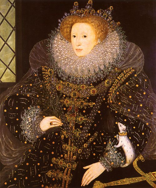 Portrait of Queen Elizabeth I by Nicholas Hilliard (attributed), 1585.