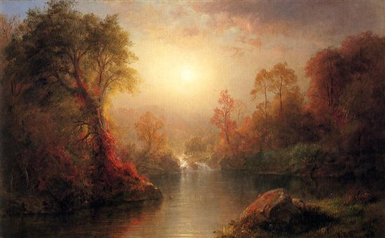 Autumn by Frederic Edwin Church, 1845.