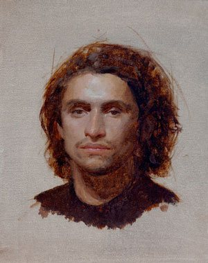 Antonio by Kristin Kunc, 2008, 8 x 10, oil on board.
