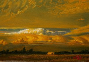 John Hulsey's plein air painting, Cloud Light.