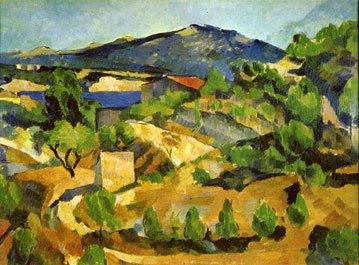 Midday, L'Estaque by Paul Cezanne, c. 1880.