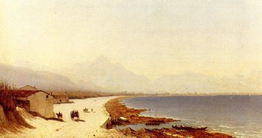 The Road by the Sea - Palermo, Italy by Sanford Gifford.