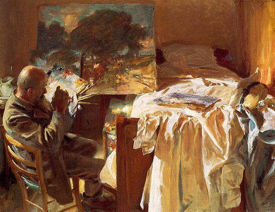 An Artist in His Studio by John Singer Sargent, oil painting, 1904.