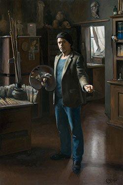 My World by Daniel Graves oil on linen, 59 x 49 3/8, 2010.