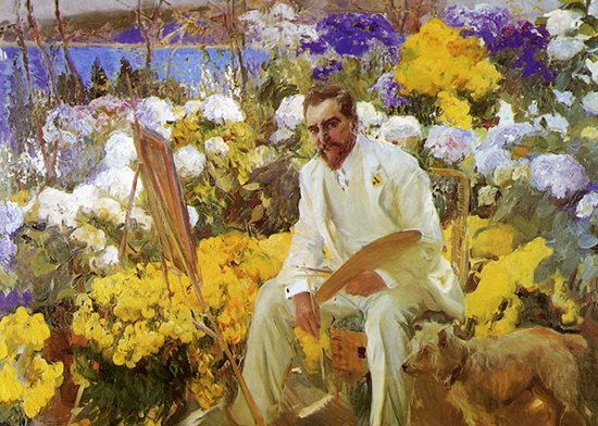 Louis Comfort Tiffany by Joaquin Sorolla, oil painting, 1911.