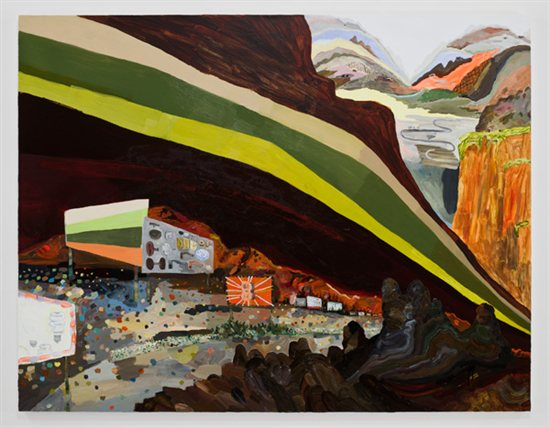 Women artists: The Road to Decoration City by Lisa Sanditz, 2008, acrylic painting on linen.