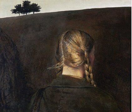 Farmroad by Andrew Wyeth, tempera on masonite, 1979.