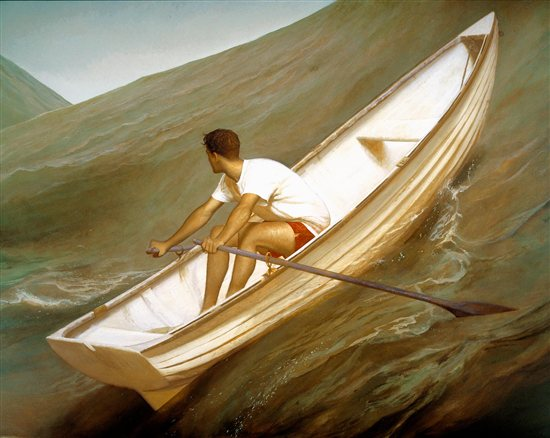 Lifeboat 1998 • Oil on Linen • 80 x 100 by Bo Bartlett