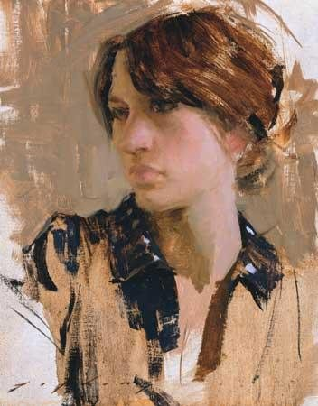 Fanny by Jeremy Lipking, oil painting.