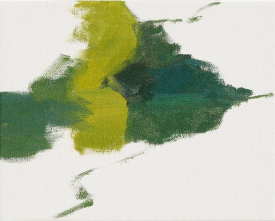 Jennifer King's plein air painting block in, step 3.