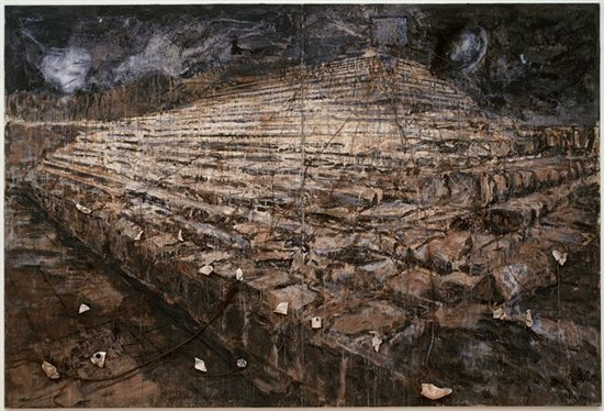 Osiris and Isis by Anselm Kiefer, mixed media painting.