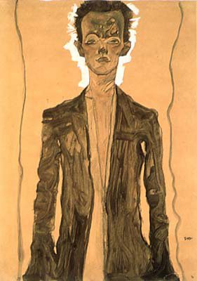 Self Portrait by Egon Schiele, 1912.