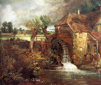 Mill at Gillingham, Dorset by John Constable, oil painting, 1826.