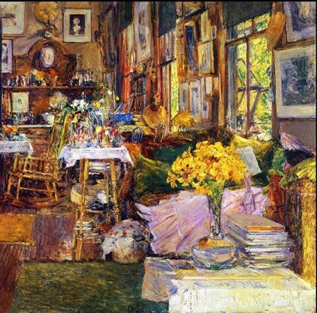 One of Childe Hassam's vibrant, colorful interiors.