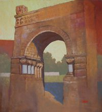 Architectural Remnants by Charles Timken, pastel painting.