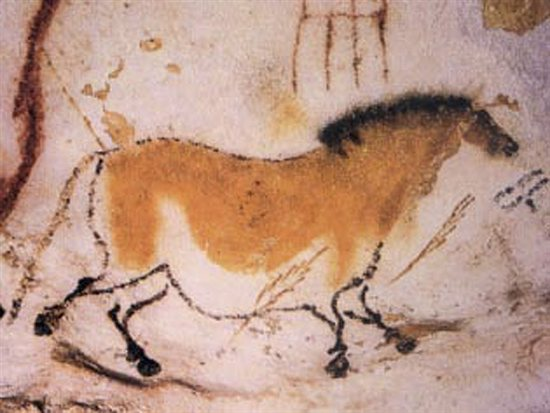 The cave paintings of Lascaux.
