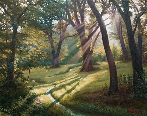 Meadow Walk by John Hulsey, 30 x 40, oil on canvas.