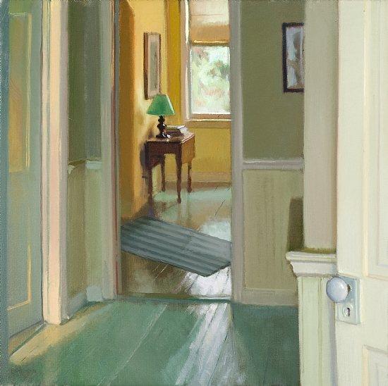 Lea Colie Wight oil painting, Third Floor Light, oil on linen