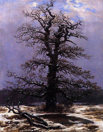 Plein Air Painting - Oak in the Snow by Caspar David Friedrich