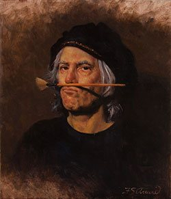 My Father's Son by Frank Arcuri, oil on linen, 14 x 12, 2010.