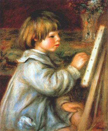 Portrait of Claude Renoir Painting by Renoir, 1907, oil on canvas.
