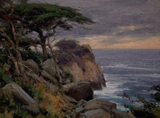 Oil painting by Matt Smith--Point Lobos.