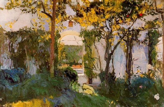 Old Garden of the Alcazar in Seville by Sorolla, 1910.