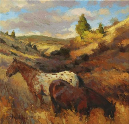 There are toy horses and real horses, and the difference between the two is that real horses move, breathe, feel, and live. It's the same with artists. In the Hollow by Steve Henderson.