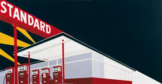 Standard Station by Ed Ruscha, oil painting, 1966.