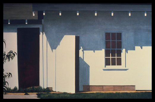 "Ohio Shed by Alice Dalton Brown, 1978, oil painting on canvas, 30x48""."