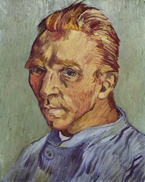 Self-portrait by Vincent van Gogh, 1888, oil painting.