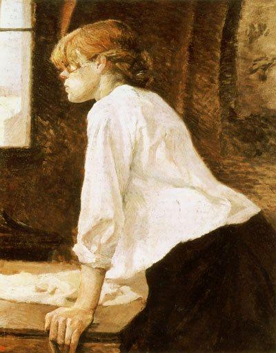 La Blanchisseuse by Henri de Toulouse-Lautrec, 1884-1888, oil on canvas.