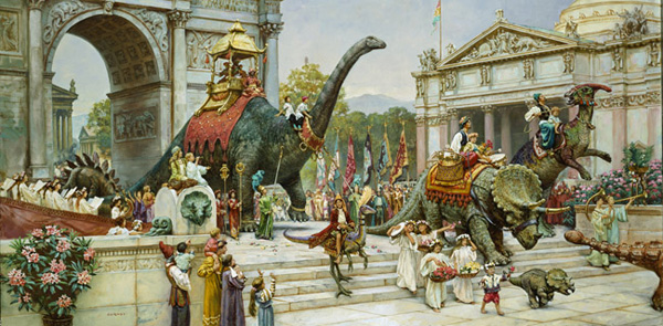 Dinosaur Parade by James Gurney | ArtistsNetwork.com