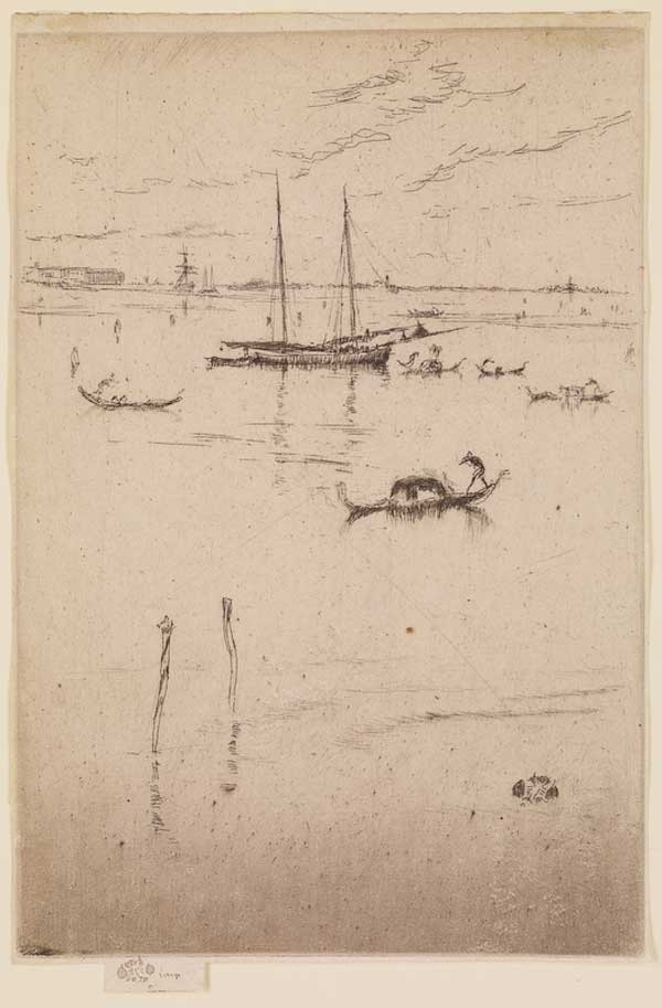 Little Lagoon by James McNeill Whistler, 1879–1880, etching and drypoint drawing