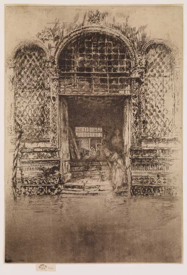 The Doorway by James McNeill Whistler, 1879–1880, etching and drypoint drawing