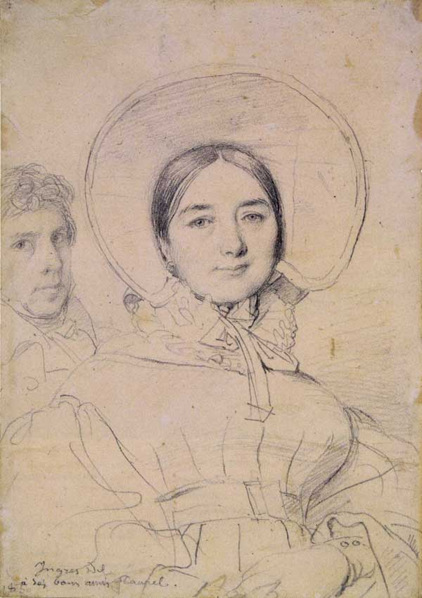 Madeleine Ingres With the Artist by Jean-Auguste-Dominique Ingres, 1830, graphite pencil drawing