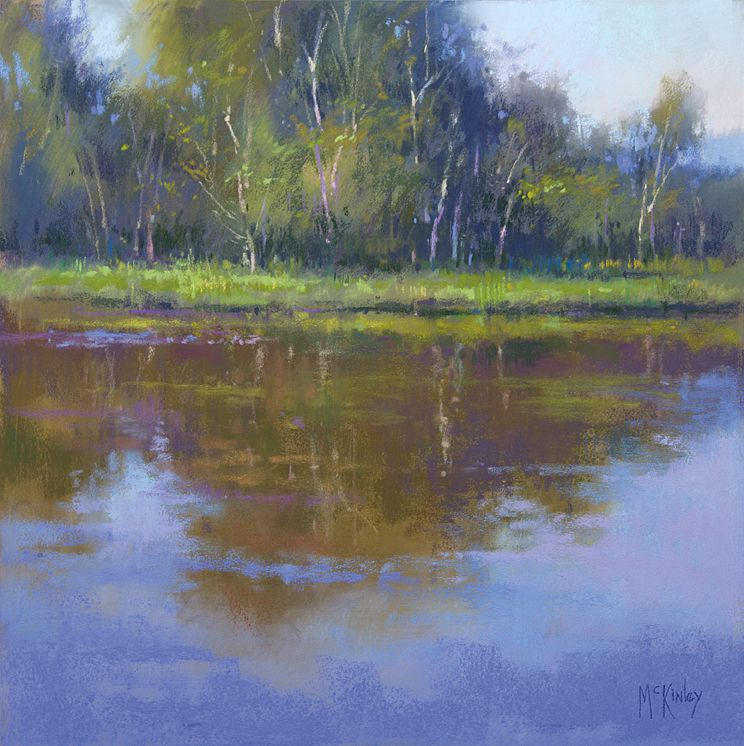 McKinley-Evening_Reflection_12x12-plein-air-pastel