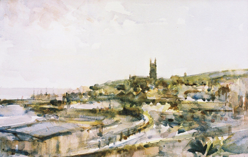 Penzance (watercolor on paper) by Andrew Horrod