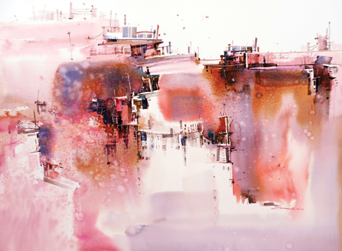 Relationship of the City #6 (watercolor on paper) by Tan Suz Chiang