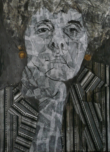 Going Gray (mixed media) by Myrna Wacknov