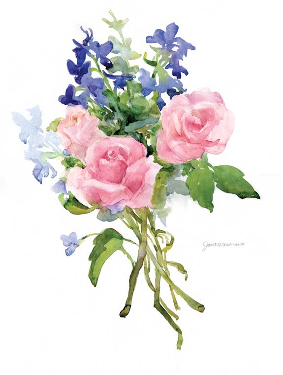 painting roses and delphiniums artists network