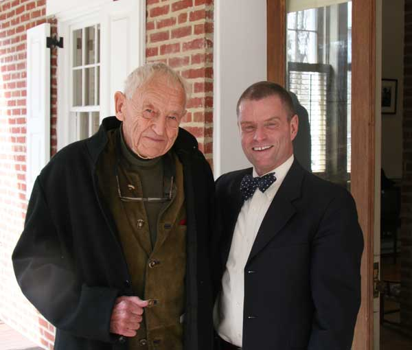 Andrew Wyeth, left, and former editor Stephen Doherty.