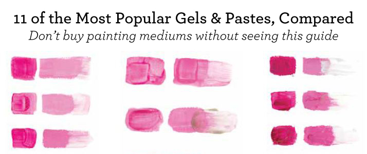 A scientific look at the difference between gels, pastes and other mixed media