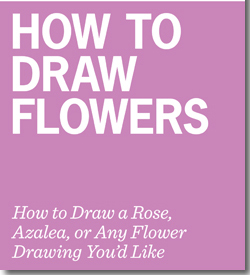 Free guide on how to draw flowers including how to draw a rose, azalea and much more!