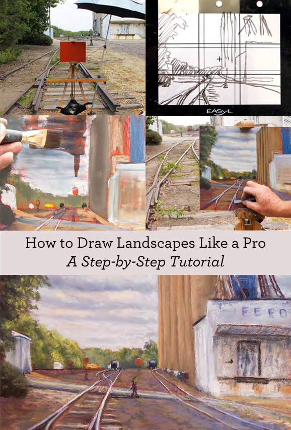 You'll love this free landscape drawing guide and expert techniques on how to draw landscapes!