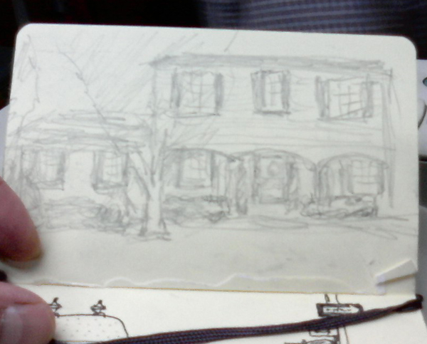 Bob Bahr drawing of a house