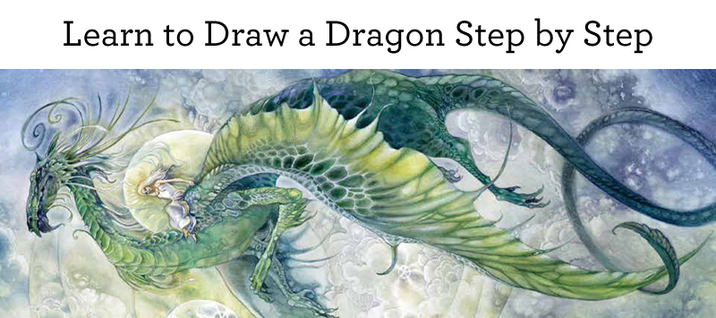 Learn how to draw a dragon step by step
